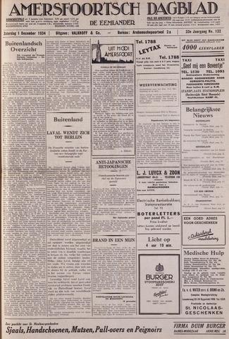 Amersfoortsch Dagblad / De Eemlander 1934-12-01