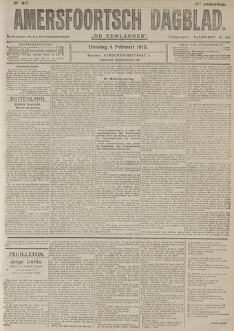 Amersfoortsch Dagblad / De Eemlander 1913-02-04