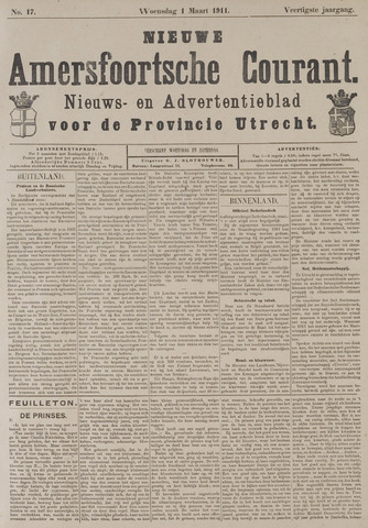 Nieuwe Amersfoortsche Courant 1911-03-01