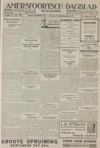 Amersfoortsch Dagblad / De Eemlander 1931-06-27