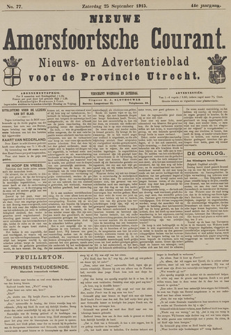 Nieuwe Amersfoortsche Courant 1915-09-25