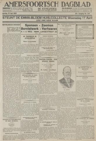 Amersfoortsch Dagblad / De Eemlander 1929-04-16