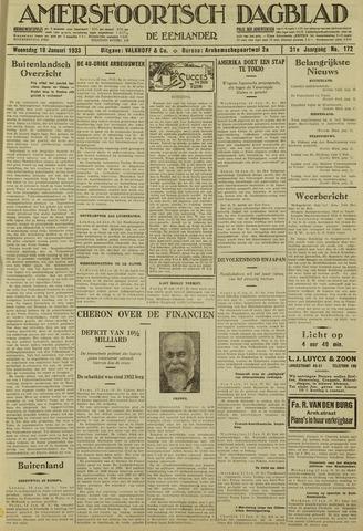 Amersfoortsch Dagblad / De Eemlander 1933-01-18