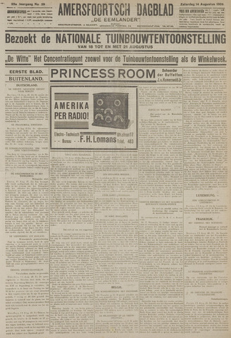 Amersfoortsch Dagblad / De Eemlander 1926-08-14