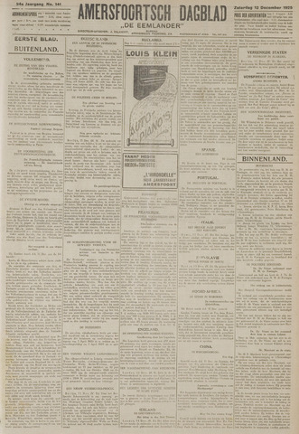 Amersfoortsch Dagblad / De Eemlander 1925-12-12