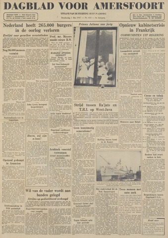 Dagblad voor Amersfoort 1947-05-01