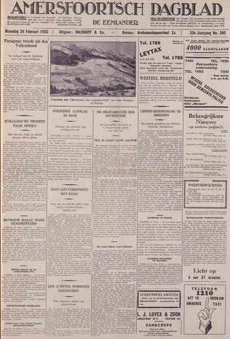 Amersfoortsch Dagblad / De Eemlander 1935-02-25