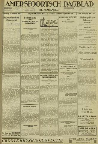 Amersfoortsch Dagblad / De Eemlander 1933-02-25