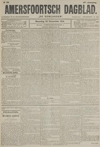 Amersfoortsch Dagblad / De Eemlander 1914-11-30
