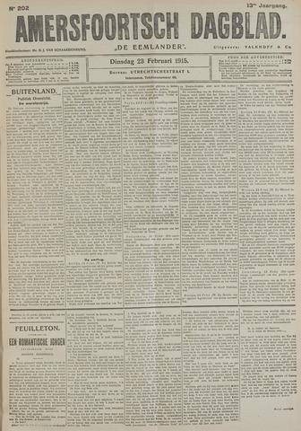 Amersfoortsch Dagblad / De Eemlander 1915-02-23