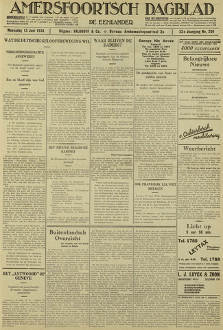 Amersfoortsch Dagblad / De Eemlander 1934-06-13