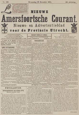 Nieuwe Amersfoortsche Courant 1915-12-22