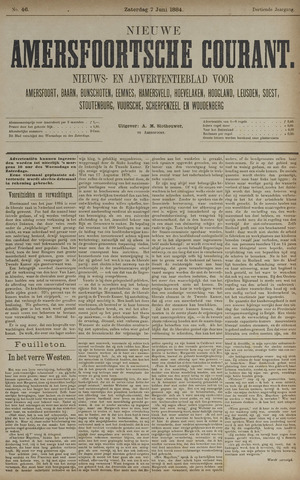 Nieuwe Amersfoortsche Courant 1884-06-07
