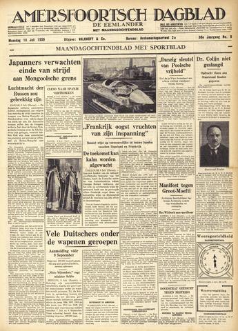 Amersfoortsch Dagblad / De Eemlander 1939-07-10