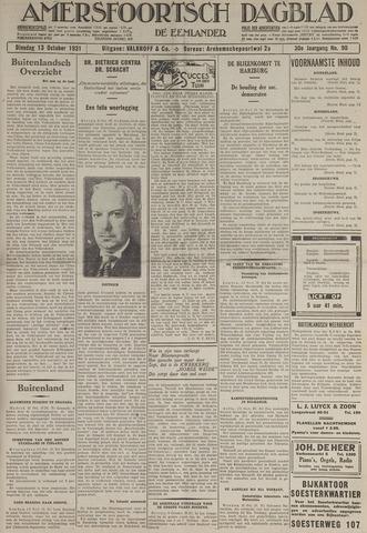 Amersfoortsch Dagblad / De Eemlander 1931-10-13