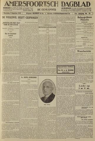 Amersfoortsch Dagblad / De Eemlander 1932-08-03