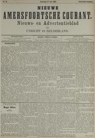Nieuwe Amersfoortsche Courant 1885-06-27