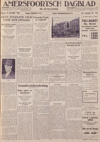Amersfoortsch Dagblad / De Eemlander 1936-12-15