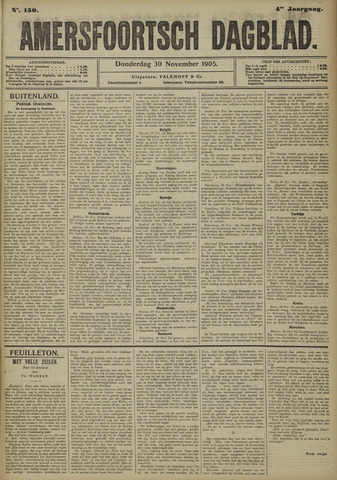 Amersfoortsch Dagblad 1905-11-30