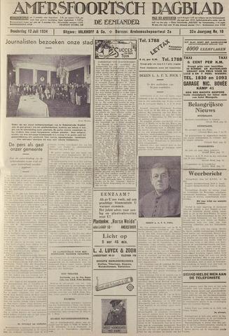 Amersfoortsch Dagblad / De Eemlander 1934-07-12