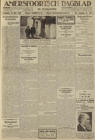 Amersfoortsch Dagblad / De Eemlander 1932-04-13
