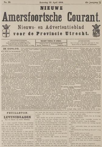 Nieuwe Amersfoortsche Courant 1916-04-22