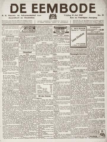 De Eembode 1927-07-15