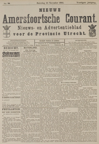 Nieuwe Amersfoortsche Courant 1911-11-11