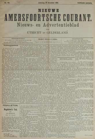 Nieuwe Amersfoortsche Courant 1889-12-28