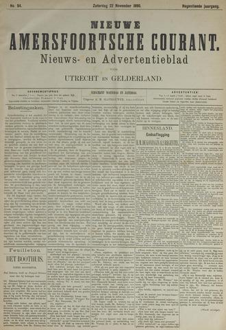 Nieuwe Amersfoortsche Courant 1890-11-22