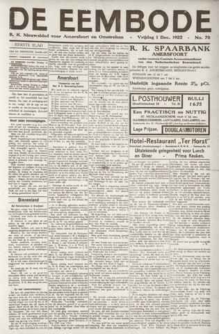 De Eembode 1922-12-01