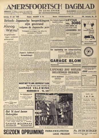 Amersfoortsch Dagblad / De Eemlander 1939-07-29