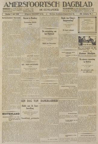 Amersfoortsch Dagblad / De Eemlander 1930-07-01