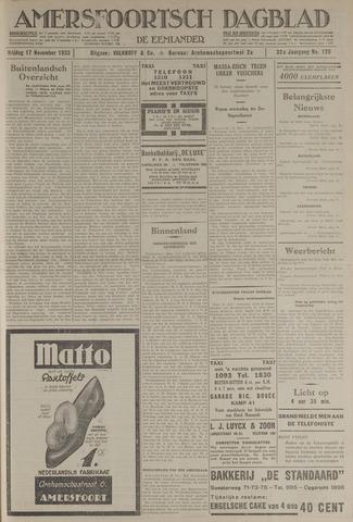 Amersfoortsch Dagblad / De Eemlander 1933-11-17