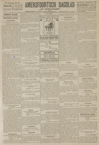 Amersfoortsch Dagblad / De Eemlander 1925-09-14