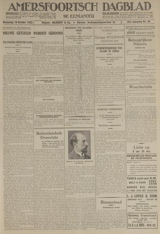 Amersfoortsch Dagblad / De Eemlander 1933-10-18