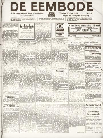 De Eembode 1925-07-17