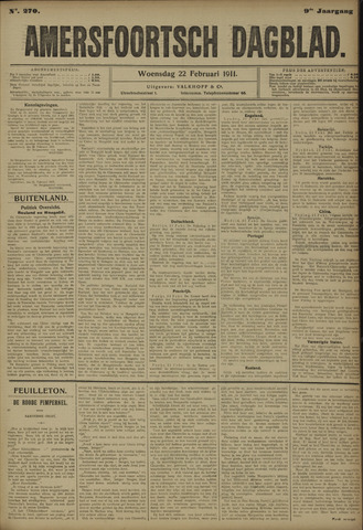 Amersfoortsch Dagblad 1911-02-22