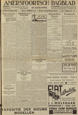 Amersfoortsch Dagblad / De Eemlander 1932-09-24