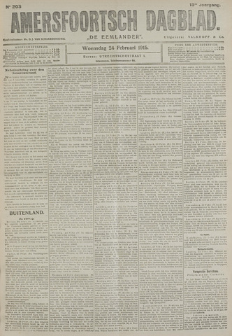 Amersfoortsch Dagblad / De Eemlander 1915-02-24