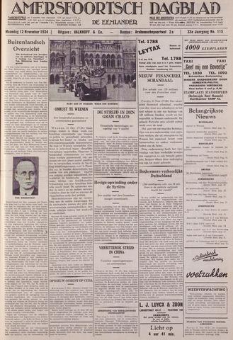 Amersfoortsch Dagblad / De Eemlander 1934-11-12