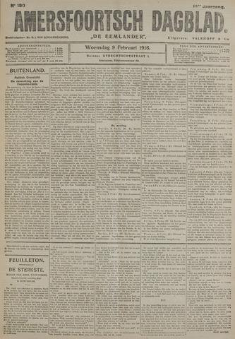 Amersfoortsch Dagblad / De Eemlander 1916-02-09