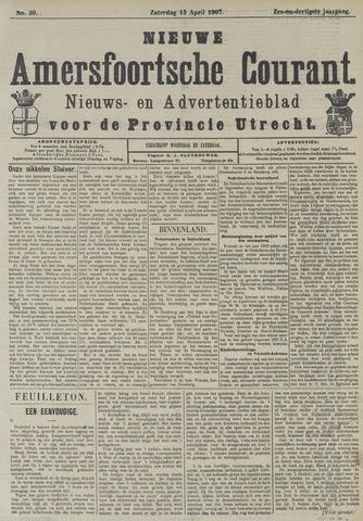 Nieuwe Amersfoortsche Courant 1907-04-13