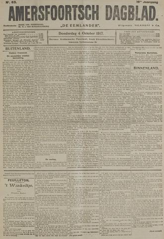 Amersfoortsch Dagblad / De Eemlander 1917-10-04