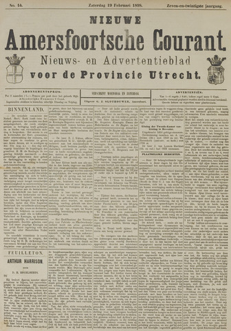 Nieuwe Amersfoortsche Courant 1898-02-19