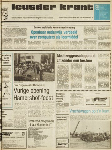 Leusder Krant 1985-09-19