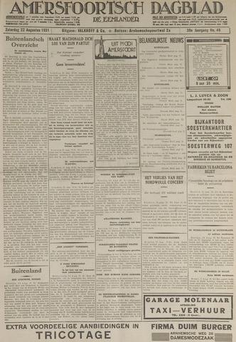 Amersfoortsch Dagblad / De Eemlander 1931-08-22