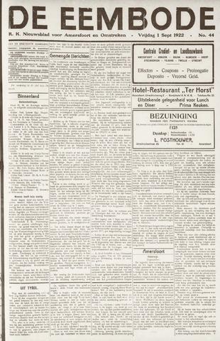 De Eembode 1922-09-01
