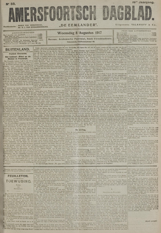Amersfoortsch Dagblad / De Eemlander 1917-08-08