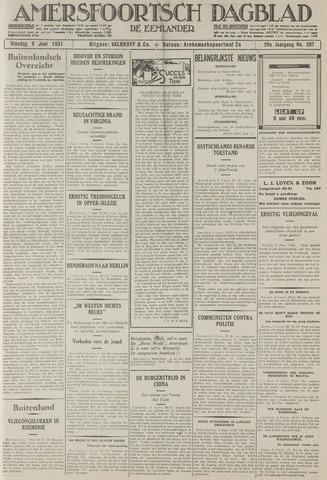 Amersfoortsch Dagblad / De Eemlander 1931-06-09